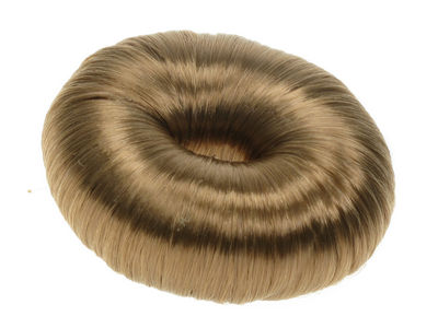 Brown Artificial Hair Bun Ring