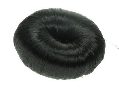 Black Artificial Hair Bun Ring