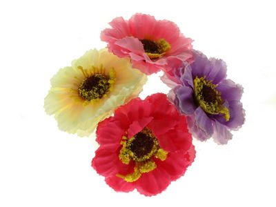 Coloured Flower Bun Garland Scrunchie Elastic