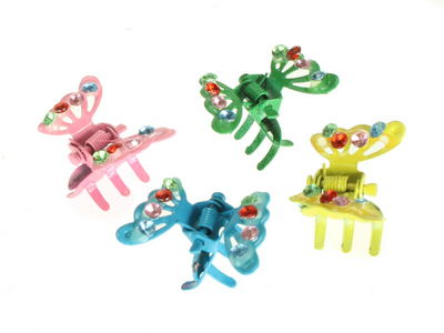 Mini Butterfly Hair Claw Clips Yellow
