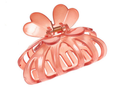Open Side Flower Claw Clip - Coral