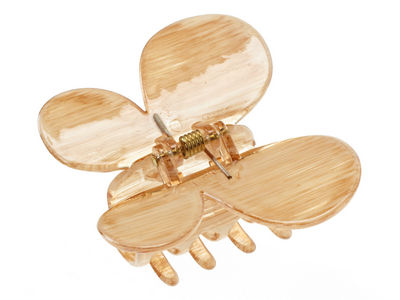 Butterfly Hair Claw Clip - Light Brown