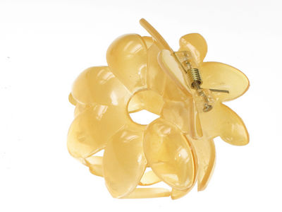 Pale Gold Flower Hair Clamp Clip