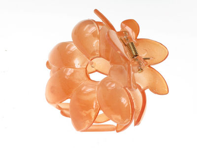 Orange Flower Hair Clamp Clip