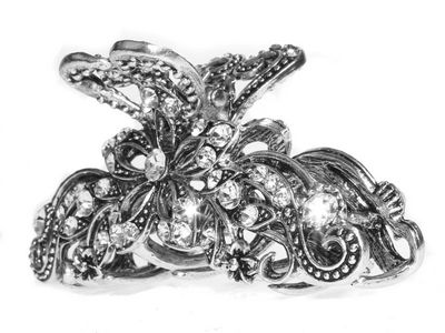Floral Filigree Claw Clamp Clip