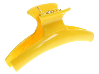 Yellow Curved Hair Claw Clip