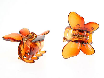Tort Brown Butterfly Hair Claw Clips