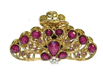 Purple Vintage Gold Claw Clamp