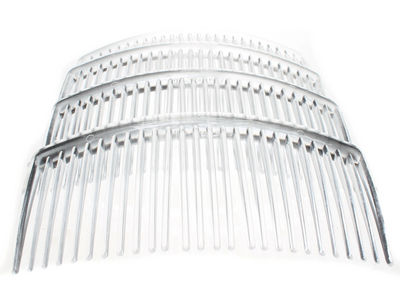 4 Pack Clear Side Hair Combs