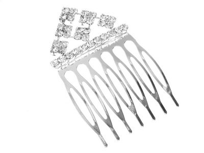 Crystal Pyramid Hair Comb