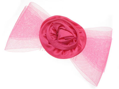 Hot Pink Rosette Bow Comb