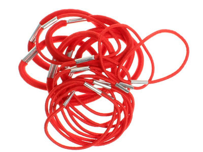 Pack of Red Hair Elastics