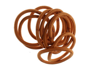 Mid brown Snag-Free Hair Elastic Bobbles