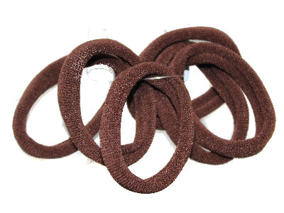 Dark Brown Jersey Endless Snag Free Hair Bobbles