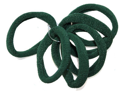 Bottle Green Jersey Endless Snag Free Hair Bobbles