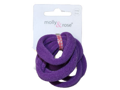 Purple Jersey Endless Snag Free Hair Bobbles