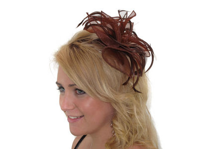 Chocolate Organza Fascinator