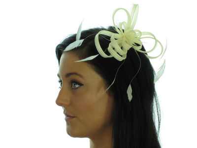 Cream Ribbon Fascinator