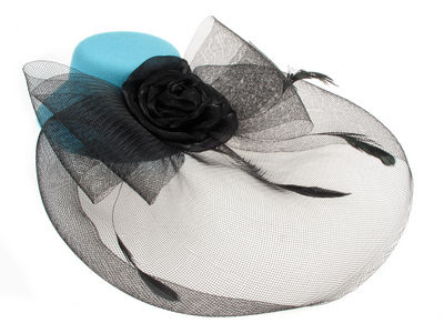 Turquoise Top Hat Fascinator