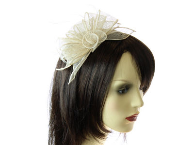 Ivory Looped Flower Fascinator Band