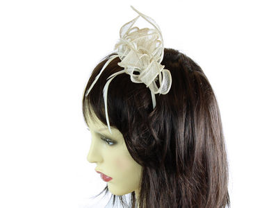 Ivory Coiled Flower Fascinator Band