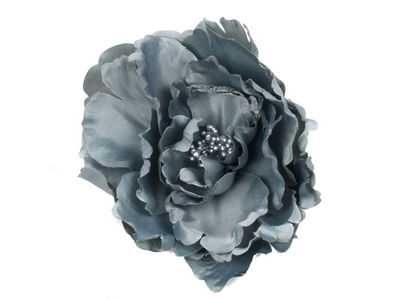 Grey Pewter Flower Hair Clip