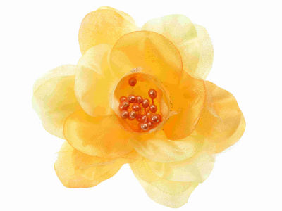 Citrus Orange Organza Flower Hair Clip/Corsage