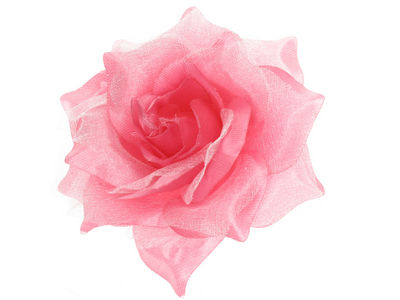 Pink Rose Flower Hair Clip