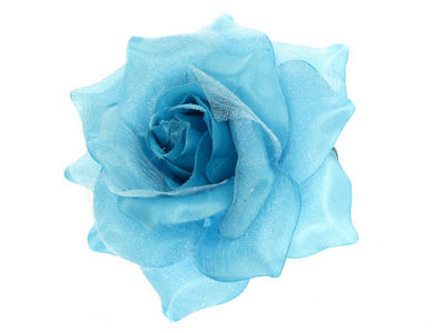 Blue Rose Flower Hair Clip