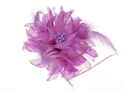 Small Purple Glitter Flower Hair Clip