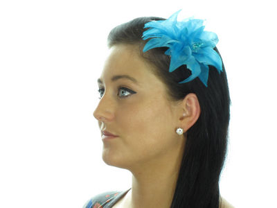 Blue Layered Flower Hair Clip