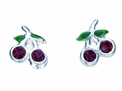 Cherry Stud Crystal Earrings