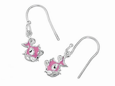 Pink Punky Fish Drop Earrings