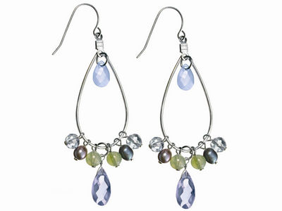Freshwater Pearl Tear Drop Earrings