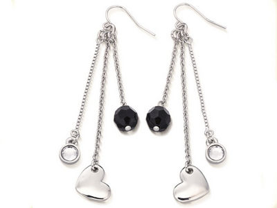 Fiorelli Silver Heart Charm Earrings