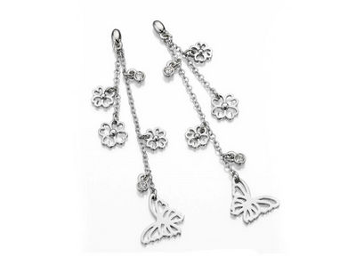 Fiorelli Crystal Flower Drop Earrings