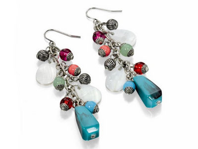 Fiorelli Multi Coloured Drop Earrings