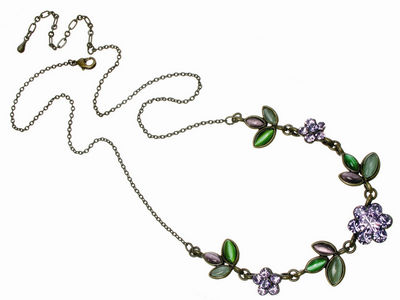 Amethyst Crystal Flower Necklace