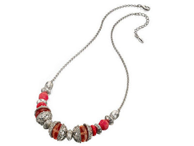 Fiorelli Coral Multi Bead Necklace