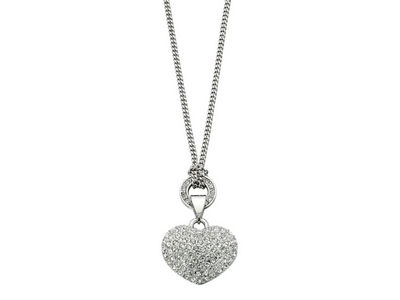 Fiorelli Crystal Heart Charm Necklace