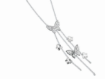Cascading Butterfly Necklace