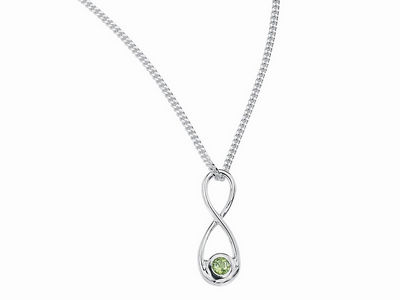 Peridot Figure of Eight Pendant