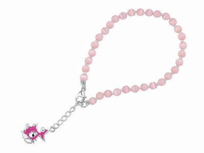 Pink Punky Fish Cats Eye Bracelet