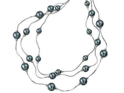Pearl Bead Multi-Chain Necklace