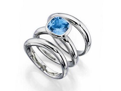 Fiorelli Blue Crystal Stacking Ring Set