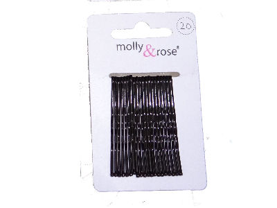 20 x 45mm Hair Grips Black