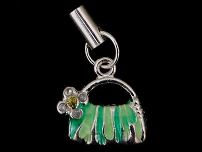 Green Handbag Phone Charm