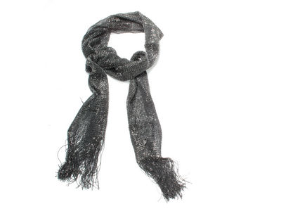 Black Lurex Glitter Fashion Scarf Wrap