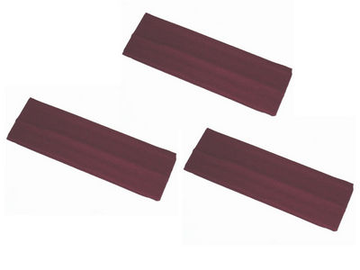 3 x Burgundy Stretchy Headbands