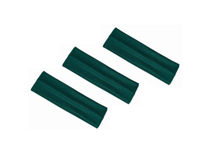 3 x Bottle Green Stretchy Headbands
